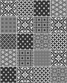 Ceramica Black White Moroccan Tile Effect Kitchen Bathroom Wallpaper for sale online Moroccan Tiles Kitchen, Kitchen Tiles, Black And White Effect, Black White, White And Silver Wallpaper, Patchwork Tiles, Black Rooms, Best House Plans, Bathroom Wallpaper