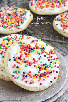 Buttery, melt-in-your-mouth amazingness, these frosted sugar cookies are the made-from-scratch version of the store bought ones. Love at fir...