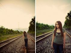 Railroad Tracks Girl Senior Pictures