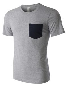 PREMIUM Mens Lightweight Ringspun Short Sleeve Pocket T Shirt