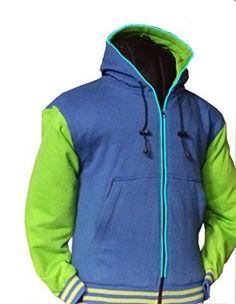 Seattle Seahawks Inspired Vasity Style Jacket With Illumination Led Lighting Small Green