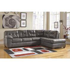 Signature Design by Ashley Alliston DuraBlend Gray 2 Piece Sectional Sofa Set - Goedekers.com