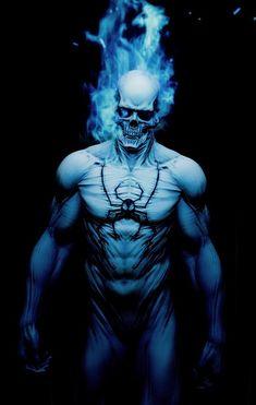 Marvel comics his name is Jeff Superhero Wallpaper, Marvel Comics Wallpaper, Marvel Art, Ghost Rider Marvel, Marvel Dc Comics, Ghost Rider Wallpaper, Superhero Art, Spiderman Artwork