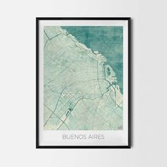 Buenos Aires art posters - City Art Map Posters and Prints