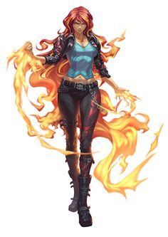 Femme elemental feu - Anime New Photos Female Character Design, Character Art, Character Concept, Fantasy Women, Fantasy Girl, Fantasy Characters, Female Characters, Concept Art Landscape, Chica Fantasy