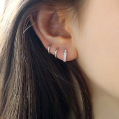 Tiny Star Earrings/ Diamond Star Earrings in Solid Gold/ Tiny Diamond Earrings/ Tiny Stud Earrings/ Tiny Diamond Studs/ Valentines Day - Fine Jewelry Ideas Star Earrings, Sterling Silver Earrings, Diamond Earrings, 925 Silver, Tiny Gold Hoop Earrings, Fancy Earrings, Jade Earrings, Dangle Earrings, Silver Rings
