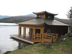 http://www.amstutztimberframes.com/timber-framegallery/japanese-inspired-timber-frame-boathouse/