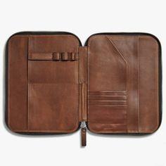 Tech Portfolio - Medium Brown