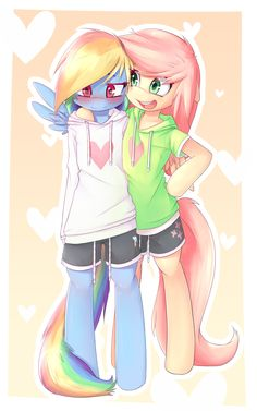 Rainbow dash and flutter shy                                                                                                                                                                                 Más