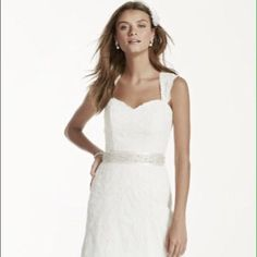 David'S Bridal Open Keyhole Wedding Dress