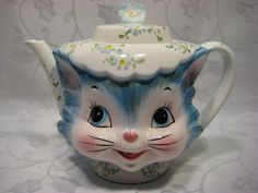 WANT!!!  Vintage Lefton Miss Priss Kitty Japan Teapot Kitchen Ware A | eBay