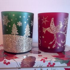 #Christmas #Holiday Votive Candle Holders x2 $2!
