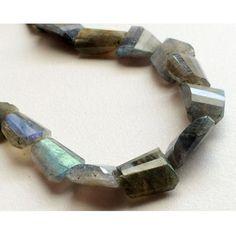 Labradorite Beads Labradorite Step Cut Nuggets by gemsforjewels