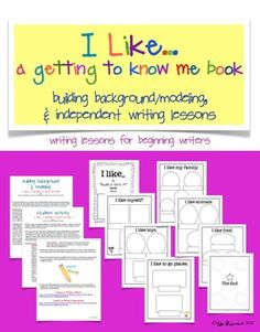 Start the year with this writing activity for k-1 students.