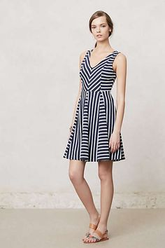 Anthropologie - Striped Day Dress.  Super comfy knit fabric *and* it has pockets!