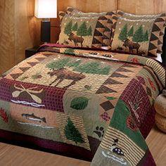 Greenland Home Moose Lodge Quilt Set, Full/Queen Greenland Home Fashions http://www.amazon.com/dp/B006VPLU34/ref=cm_sw_r_pi_dp_K.Pvub0XYBWVT