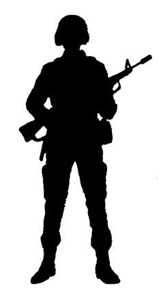 military silhouettes free graphics clipart 12368 soldier salute rh pinterest com fallen soldier silhouette clip art Soldier Silhouette Vector