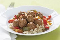 Simple Sweet 'N Sour Meatball Simmer recipe - This incredibly delicious sauce is so simple to make and adds the perfect tangy flavor to prepared meatballs. Kraft Foods, Kraft Recipes, Beef Recipes, Cooking Recipes, What's Cooking, Meatball Recipes, Recipies, Uk Recipes, Budget Recipes