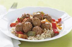 Simple Sweet 'N Sour Meatball Simmer recipe Kraft Foods, Kraft Recipes, 15 Minute Dinners, Sweet And Sour Meatballs, Italian Meatballs, Tasty, Yummy Food, Albondigas, Gourmet