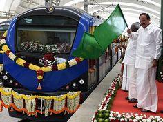 Venkaiah Naidu flagging-off the Metro Rail passenger service between Airport an…
