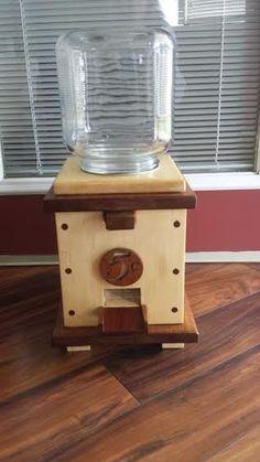 Handmade Wooden push button Candy Dispenser by WildWoodCarver