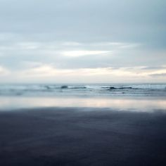 Beach Photography in Muted Blue Gray, Pacific Ocean, Sea, Nature, Nautical, Waves, Clouds, Simple, Minimal - Limitless
