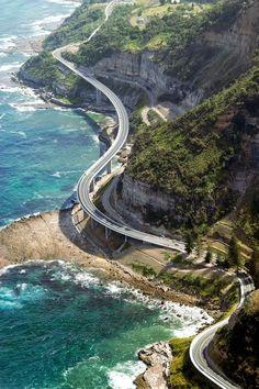 Sea Cliff Bridge in Wollongong, NSW Australia