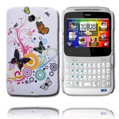 Valentine (Circles Mixed Butterfly) HTC ChaCha Cover