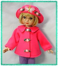 "free pattern 18"" fleece doll jacket - Google Search"