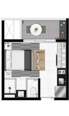 'Uma vida simples é mais feliz', diz arquiteto de apartamento de 19m² - noticias - UOL Economia