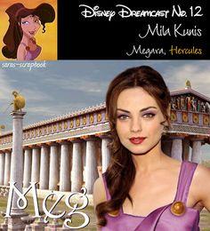 Megara=Mila Kunis / A Dream Cast Of Your Favorite Disney Characters (via BuzzFeed Community)