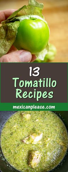 Want to become an expert at Mexican green sauces? Pick up some fresh tomatillos and try out one of these 13 authentic Mexican recipes. Authentic Mexican Recipes, Mexican Food Recipes, Vegetarian Recipes, Healthy Recipes, Ethnic Recipes, Mexican Desserts, Spanish Recipes, Spanish Food, Drink Recipes