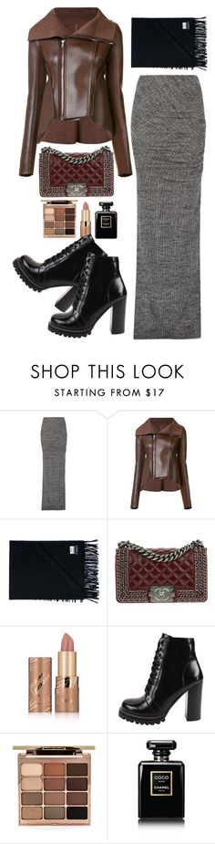 """""""GO AWAY!!!"""" by www-som ❤ liked on Polyvore featuring Alice + Olivia, Rick Owens Lilies, Acne Studios, Chanel, tarte, Jeffrey Campbell and Stila"""