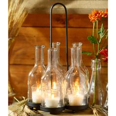 Light in a Bottle 5-Candle Centerpiece | Kirklands