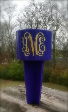 Monogrammed Sand Spike Beach Cup Holder by customvinylbydesign, $15.00