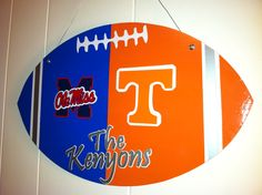 House divided door hanger football