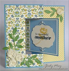 Lovely creation using Stampin' Up! Oh Hello by Judy May