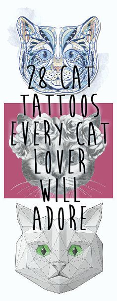 28 Classy Cat Tattoos Every Cat Lover Will Adore#.qablKYRJK#.qablKYRJK