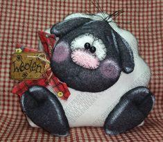 Little Woolen Lamb Handmade Finished OOAK by GingerberryCreek