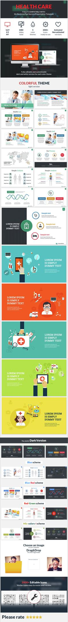 Health Care Success Presentation Template - #Business #PowerPoint #Templates Download here: https://graphicriver.net/item/health-care-success-presentation-template/14942266?ref=alena994