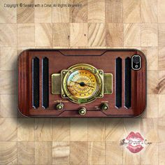 Antique Radio  iPhone 4 Case iPhone 4s Case and by SealedWithaCase, $17.99   love old radios!  beautiful!