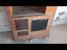 Отопительно-варочная печь из б\у кирпича /Heating and cooking stove from used brick - YouTube