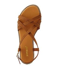 Bamboo Chain-Trimmed Strappy Flat Sandals