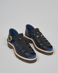 T bar sandals in mat black leather beautifully hand crafted ethical footwear brand responsibly made in Bristol