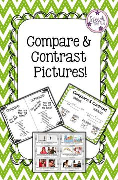 Speech Time Fun: Compare & Contrast Pictures!