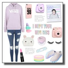 """""""Idk about this?"""" by switchkid ❤ liked on Polyvore featuring Topshop, Fujifilm, Vans, Polaroid, Smashbox, Violet Voss and Forever 21"""