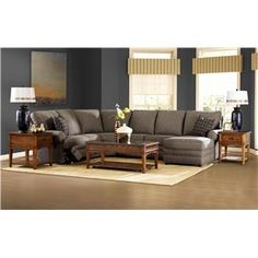 Klaussner Belleview Reclining Sectional with Right-Side Chaise - Godby Home Furnishings - Reclining Sectional Sofa