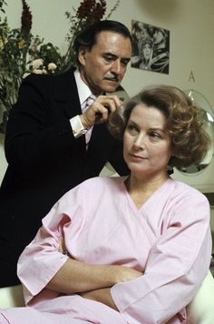 Master hairstylist Alexandre with Princess Grace at his salon on the Faubourg Saint-Honoré, Paris, photo by Jean-Claude Deutsch, 1976 | Flickr - Photo Sharing!
