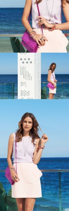 The perfect summer outfit in pastels and PANDORA #PANDORAmagazine