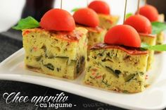 chec aperitiv cu legume Bacon, Muffin, Appetizers, Cooking Recipes, Breakfast, Breads, Orice, Food, Kitchen